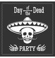 Day of the dead party poster vector image vector image