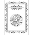 Decorative frame border vector image vector image