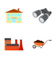 enterprises industry hunting and other web icon vector image vector image