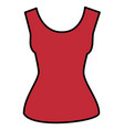 female blouse isolated icon vector image