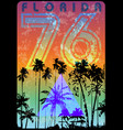florida summer graphic tee vector image vector image