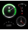 Fuel gauge speedometer collection vector image