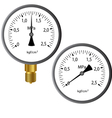 gas manometer vector image vector image