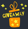 giveaway contest gift box hand drawn style vector image