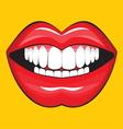 Glossy female lips vector image