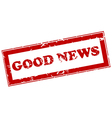 Good news red stamp vector image vector image