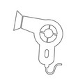 hair dryer icon vector image