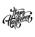 happy halloween congratulation invitation vector image