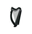 harp on white background vector image vector image