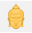 head of buddha icon cartoon style vector image