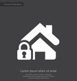 home lock premium icon white on dark background vector image