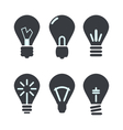 Icon set process of generating ideas to solve vector image vector image