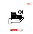 income icon vector image vector image