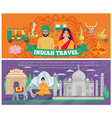 Indian Travel Banners vector image vector image