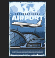 international airport flight shuttle bus transfer vector image vector image