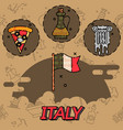italy flat icons design vector image
