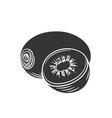 kiwi glyph icon vector image