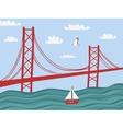 Lisbon 25 April bridge vector image vector image