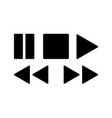 media player icons set for design vector image