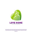 modern city love logo design concept business vector image vector image