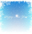 New Year Postcard Frosty frame Isolated center vector image vector image