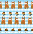 oktoberfest lederhosen seamless pattern vector image