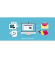Online Education Icon Flat Design vector image vector image