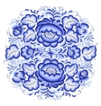 Ornate blue and white floral circle
