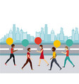 people walking design vector image