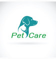 pet care shop design on white background dog and vector image vector image