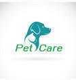 pet care shop design on white background dog vector image vector image