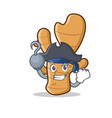 pirate ginger character cartoon style vector image vector image
