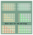 rater bars vector image vector image