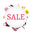 sale banner women s accessories vector image