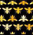 seamless geometric pattern with bee vector image vector image
