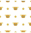Seamless pattern with golden crown vector image vector image