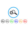 seo tools rounded icon vector image vector image