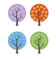 set abstract trees vector image vector image