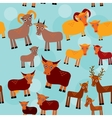 set funny animals with cubs goats sheep cows vector image vector image