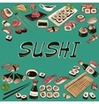 Sushi Hand drawn style vector image