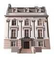 Three-storey house in European or American style vector image vector image