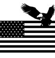 US flag and an eagle vector image vector image