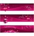valentine greeting card banners vector image vector image