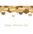 valentines day seamless background vector image vector image