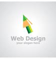 web design logo vector image vector image