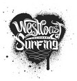 west coast surfing print for apparel vector image vector image