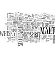 whisky text word cloud concept vector image vector image