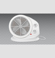 white electric heater with fan radiator appliance vector image vector image