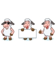 White Sheep Mascot happy vector image