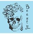 skull Beauty style vector image